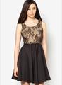 nuevo 2014 negro sin mangas de encaje modelos y vestidos de gasa