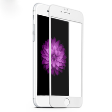Hot! 0.33mm Thickness 9H ultra thin tempered glass screen guard/screen film/screen protector for iphone 6 full cover