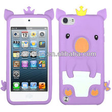 3D cute pig skin cover silicon case for iPhone5 rubber case for iphone5