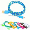 STC wholesale 1m 10ft sync datacharging fabric nylon braided Micro USB charger cable for iphone 55s and Samsung s5
