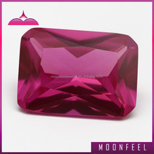 octagon cut wholesale synthetic ruby