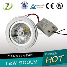 New item 12w ar111 led light g53/gu10 base 12w led ar111 light CE RoHs approved 12w led spotlight ar111