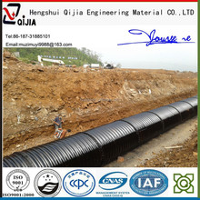 assembly hot dip corrugated steel culvert pipe galvanized metal tube