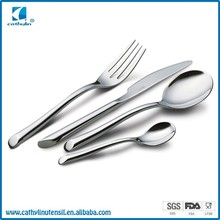 Cathylin samples free promotional tumbling polish stainless steel eco friendly silverware