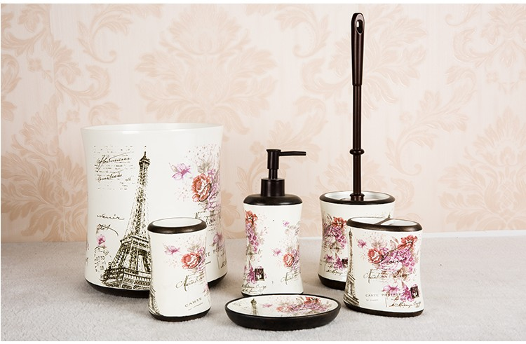 Hand Painting/decal Polyresin Luxury Simply Bathroom Accessories ...