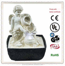 mini water feature polyresin angel fountain