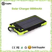 solar power bank charger 8000mah for commonly use