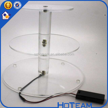 Shenzhen factory CE / EU,FDA,LFGB certification and acrylic material cake stand PMMA Plexi Perspex acrylic cake holder