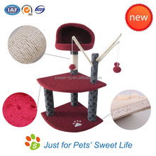 Sweet fashion cat tree with sisal fabric and cat scratching posts tree