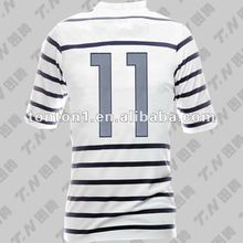 sublimation oem soccer jerseys with 100% polyester