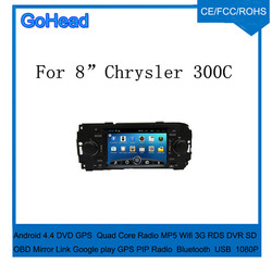 For Chrysler 300C Android 4.4 Bluetooth Radio player USB Wifi MP3 Car DVD GPS