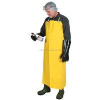 Cheap Endure Yellow PVC Industrial Adult Apron