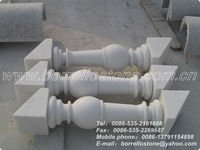 China White Marble Outdoor Hand Railings For Stairs