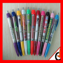 Best selling Promotional Logo Printed Pull Out Banner Ballpoint Pen