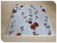 rose design laminated building material pvc ceiling