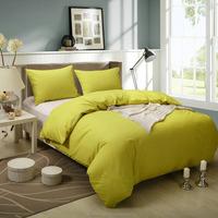 High-quality modern style Honeymoon 144T 100% cotton Baumwolle 3PC bedding set - Rot, solid duvet set