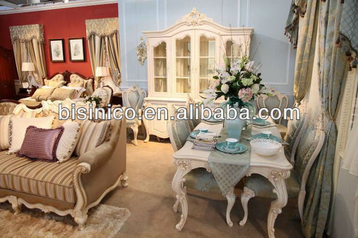 Queen victorian dining room furniture set french baroque for Queen victoria style furniture