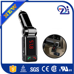 Fashion Portable Dual USB Auto Car Kit Wireless Bluetooth Hands Free Calling MP3 Player FM Transmitter Modulator+Car