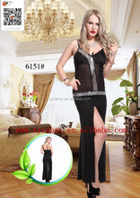 2015 Factory sale new sexy underwear long dress6051 lady sexy LONG lingerie 6051 sexy babydoll 6051