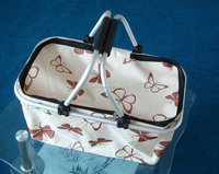 Foldable Shopping Basket,small and beautiful flower print