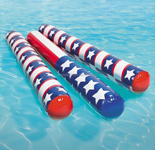 Amarica Flag Inflatable Toy to Learn Swim Pool Float Noodle