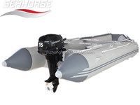 inflatable boat from 7m with outboard motor engine sitting in 10persons