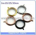 Acero inoxidable 316L medallones circulares flotantes (P-h003)