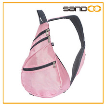 2015 cute pink lady sling triangle backpack