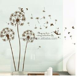 Removable Art Vinyl Quote DIY Dandelion Wall Sticker Home Decor Mural Home Room Decor