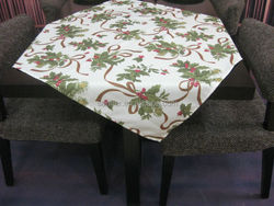 good quality 100% polyester new design heat- transfer printed table cloth