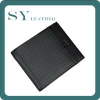 Big Discount Genuine Leather Weave Embossed Men's Horizon Double Billfold