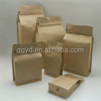 BV audited factory! paper kraft bag/kraft paper bag/ziplock stand up kraft paper bag