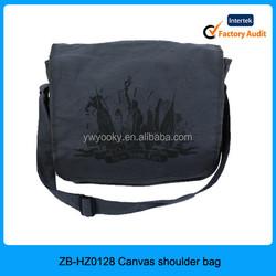 2015 Wholesale Alibaba China custom printed fashion single men shoulder bag, canvas shoulder bag, shoulder long strip bag