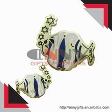 cute small fish animal metal lapel pins