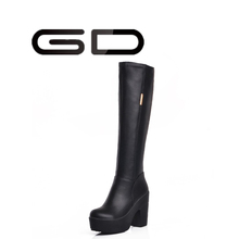 new arrival platform high quality handmade leather boots for women