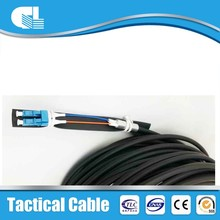ODM avaliable armouring army field fight optical cable