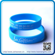 New products design Your Personalized Message And Wishes on Souvenir rubber/silicon Bracelets