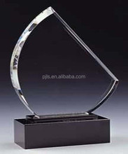 Crystal trophy, crystal award, crystal plaque