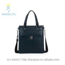 Long leather handbag spain black color bags for man handy business case