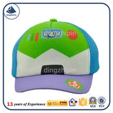 Colorful children sponge 5 panel visor sun cap foam mesh cap