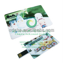 custom logo 2GB & 8GB credit card usb