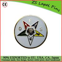 Custom top quality hot gift product Eastern Star Masonic Freemasonry hat or lapel pin