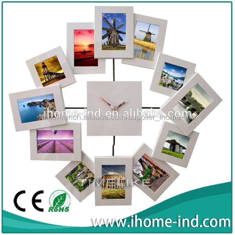 peinture m tallis e horloge murale avec cadre photo horloge murale id du produit 500004415021. Black Bedroom Furniture Sets. Home Design Ideas