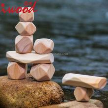 Wooden Stone Blocks Baby Toys DIY Blocks Wholesale creative toy