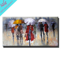Modern decorativie hand painted art lady canvas oil paintings