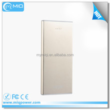 Hot sale High capacity business power bank silver 8000-12000MAH for mobile phone charging