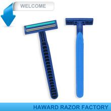 twin blade rubber handle compete with razor Gilette Blue 2