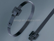 Stainless Steel Epoxy Coated Cable Tie-Releasable Type by UL of 94V-2