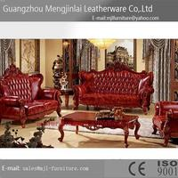 Popular best selling u shaped european style solid wood sofa