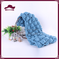 Women Knitted Crochet Warm Snood Scarf Shawl